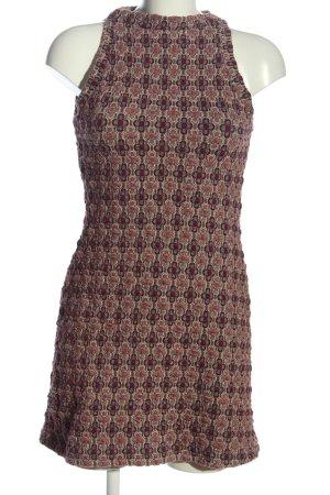 Zara Trafaluc Sukienka z dekoltem typu halter Graficzny wzór W stylu casual