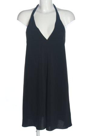 Zara Trafaluc Halter Dress blue casual look
