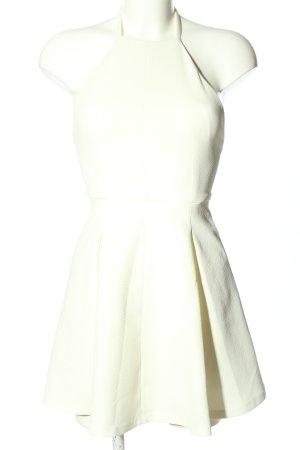 Zara Trafaluc Vestido de cuello Halter blanco look casual