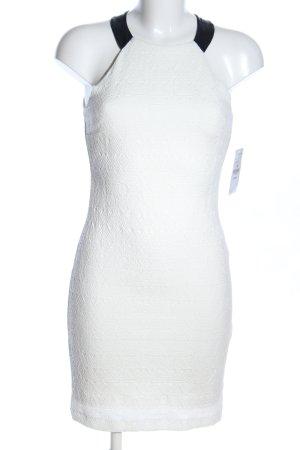 Zara Trafaluc Vestido de cuello Halter blanco estampado gráfico elegante