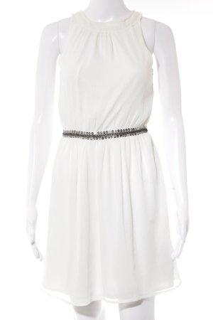 Zara Trafaluc Sukienka z dekoltem typu halter biały Poliester