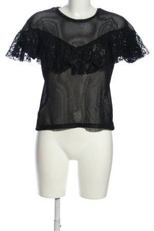 Zara Trafaluc Netshirt zwart extravagante stijl
