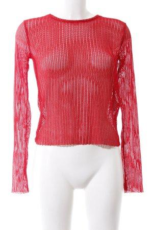 Zara Trafaluc Netzshirt rot extravaganter Stil