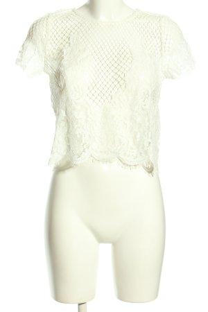 Zara Trafaluc Netshirt wit elegant