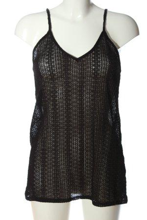 Zara Trafaluc Netshirt zwart casual uitstraling