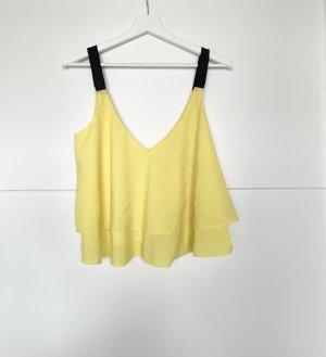 Zara Trafaluc Camisole noir-jaune
