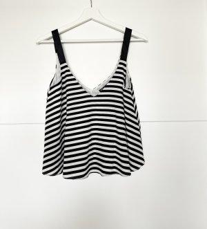Zara Camisole noir-blanc