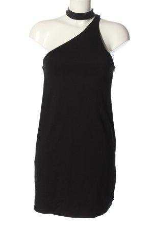 Zara Trafaluc Vestido de un hombro negro elegante
