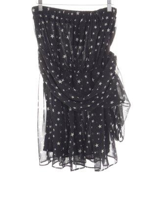 Zara Trafaluc Vestido de un hombro negro-blanco estilo extravagante