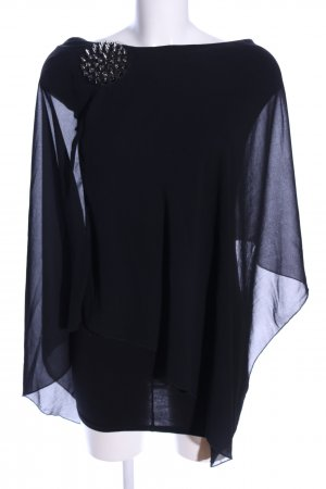 Zara Trafaluc Vestido de un hombro azul elegante