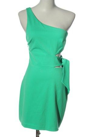 Zara Trafaluc Sukienka na jedno ramię zielony W stylu casual
