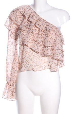 Zara Trafaluc One-Shoulder-Top Allover-Druck Elegant