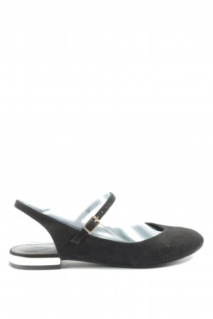 Zara Trafaluc Slingback Ballerinas schwarz Casual-Look