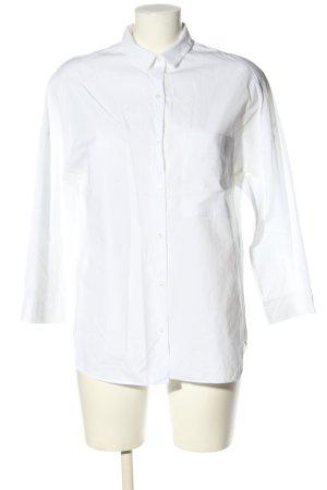 Zara Trafaluc Oversized Bluse weiß Casual-Look