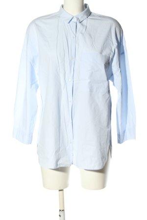 Zara Trafaluc Oversized Bluse blau Casual-Look