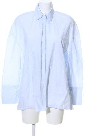 Zara Trafaluc Oversized Bluse blau Motivdruck Casual-Look