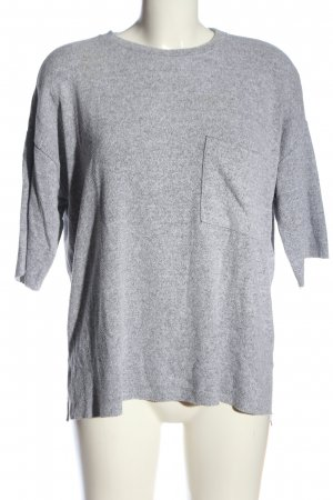 Zara Trafaluc Oversized Bluse hellgrau meliert Casual-Look