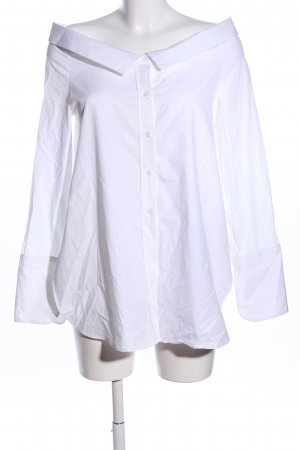 Zara Trafaluc Oversized Bluse weiß Business-Look