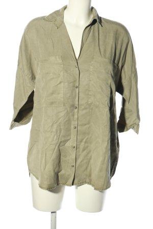 Zara Trafaluc Oversized Bluse khaki Casual-Look