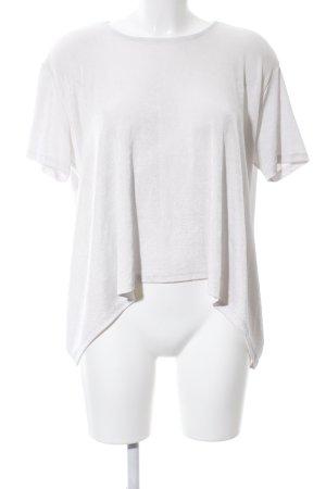Zara Trafaluc Oversized Bluse weiß-hellgrau Casual-Look