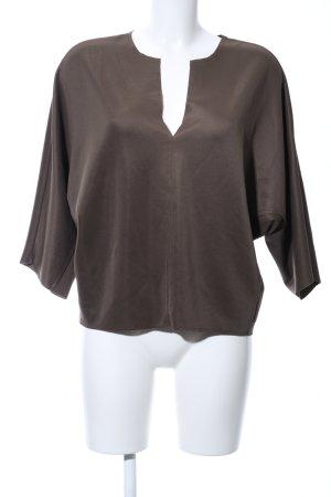 Zara Trafaluc Oversized Bluse bronzefarben Business-Look