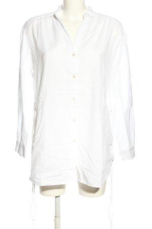 Zara Trafaluc Bluzka oversize biały W stylu biznesowym
