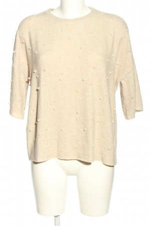 Zara Trafaluc Oversized Pullover creme meliert Casual-Look