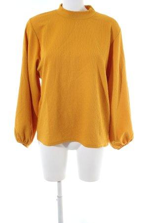 Zara Trafaluc Oversized Pullover blassgelb Casual-Look