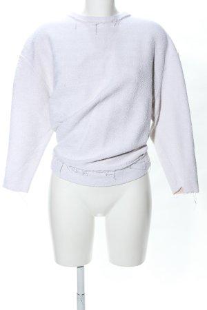 Zara Trafaluc Oversized Pullover hellgrau Casual-Look