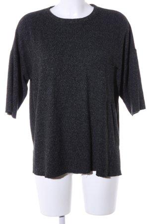 Zara Trafaluc Oversized Shirt schwarz meliert Casual-Look
