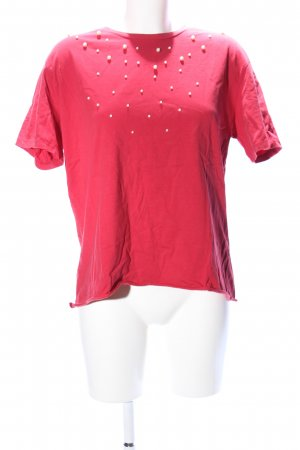 Zara Trafaluc Oversized Shirt red casual look