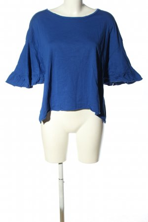Zara Trafaluc Oversized Shirt blau Casual-Look