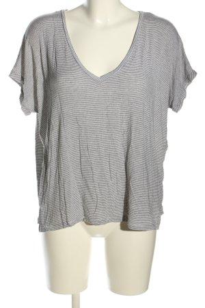 Zara Trafaluc Oversized shirt lichtgrijs-zwart gestreept patroon
