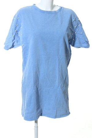Zara Trafaluc Camicia oversize blu stile casual