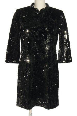 Zara Trafaluc Sequin Dress black casual look