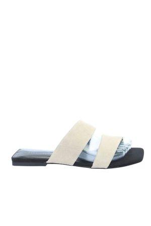 Zara Trafaluc Ciabatta aperta bianco sporco stile casual