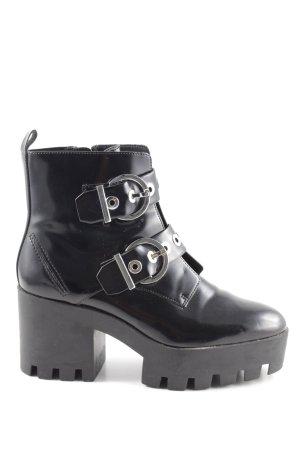 Zara Trafaluc Bottines à plateforme noir style décontracté