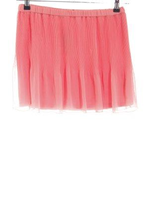 Zara Trafaluc Gonna pieghettata rosa stile casual