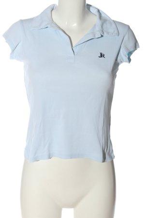 Zara Trafaluc Polo-Shirt blau Casual-Look