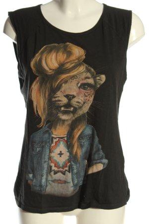 Zara Trafaluc Print-Shirt khaki Motivdruck Casual-Look