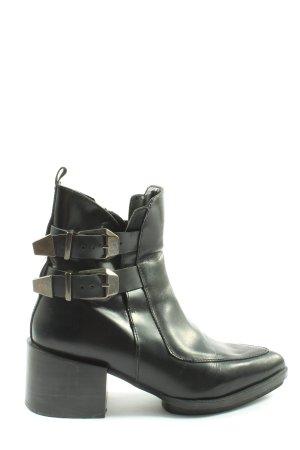 Zara Trafaluc Reißverschluss-Stiefeletten schwarz Casual-Look