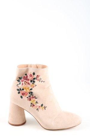 Zara Trafaluc Reißverschluss-Stiefeletten creme Casual-Look