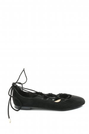 Zara Trafaluc Ballerina's met bandjes zwart casual uitstraling