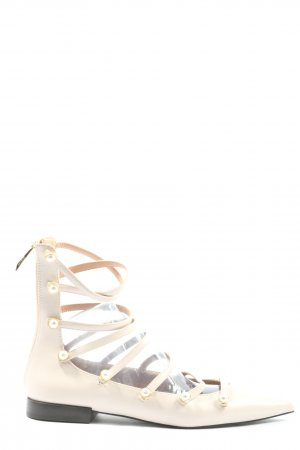 Zara Trafaluc Strappy Ballerinas natural white casual look