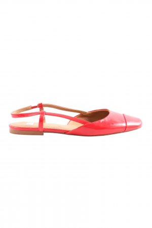 Zara Trafaluc Strapped Sandals red casual look