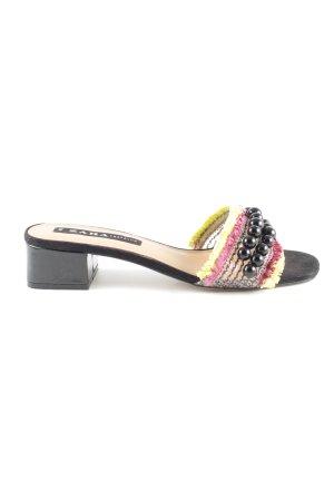 Zara Trafaluc Sandalen met bandjes en hoge hakken veelkleurig casual uitstraling