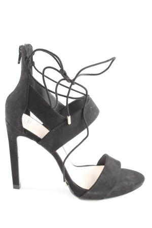 Zara Trafaluc Tacones de tiras negro estilo extravagante