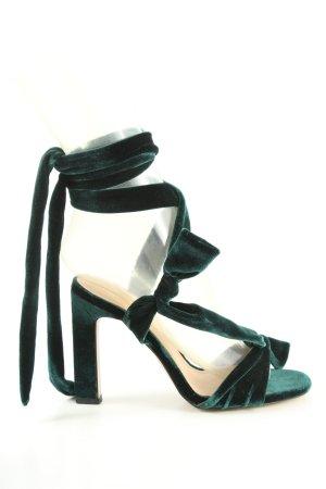 Zara Trafaluc Riemchenpumps grün Casual-Look