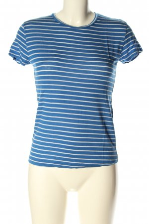 Zara Trafaluc Ringelshirt blau-weiß meliert Casual-Look