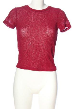 Zara Trafaluc Stripe Shirt red casual look